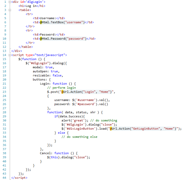 """ASP NET MVC Partial View and Ajax """"real world"""" example 