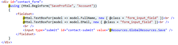 MVC and posting data using Html BeginForm and Url Routing | I Came